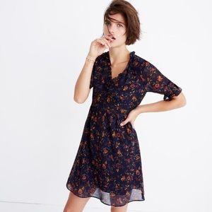 LIKE NEW Madewell Freesia Dress Climbing Vine 0 XS